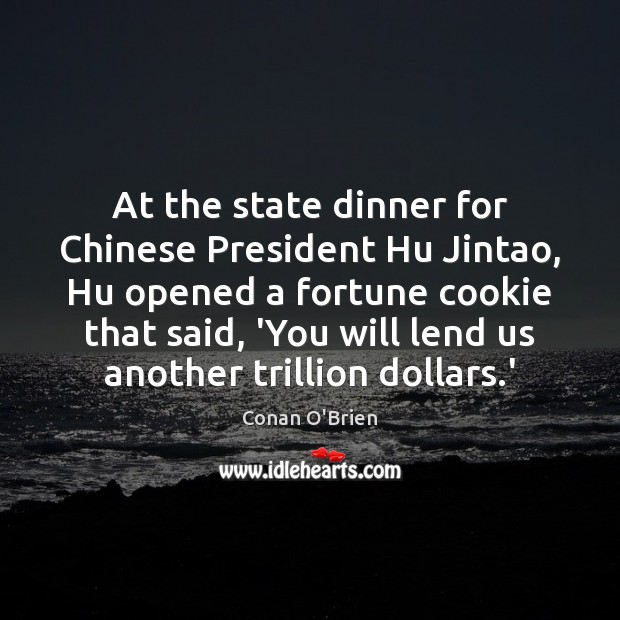 At the state dinner for Chinese President Hu Jintao, Hu opened a Image
