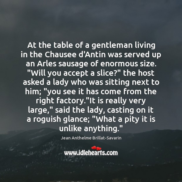 At the table of a gentleman living in the Chausee d'Antin was Image