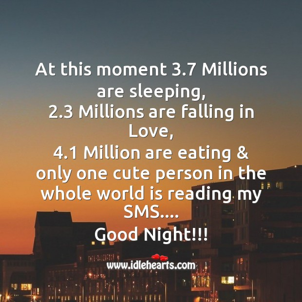 At this moment 3.7 millions are sleeping Image
