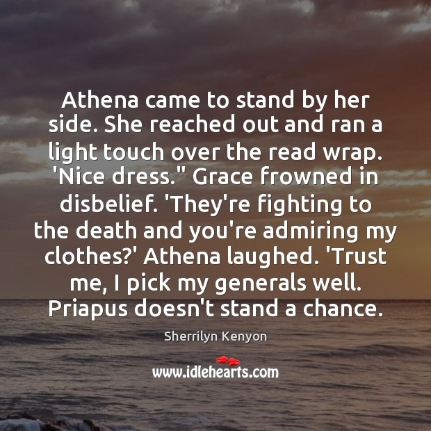 Image, Athena came to stand by her side. She reached out and ran