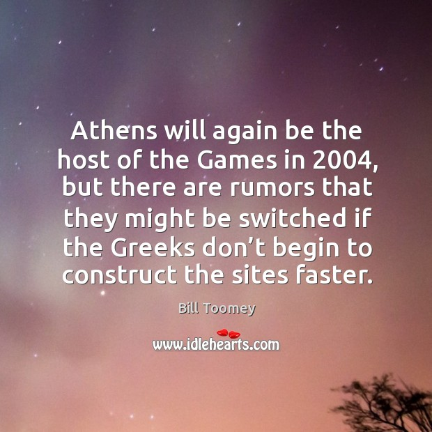 Image, Athens will again be the host of the games in 2004