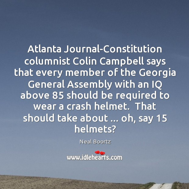 Atlanta Journal-Constitution columnist Colin Campbell says that every member of the Georgia Image