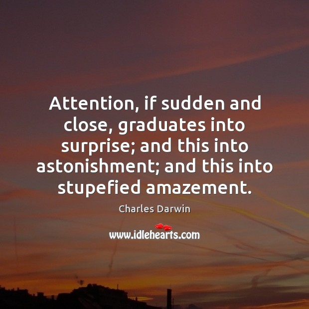Image, Attention, if sudden and close, graduates into surprise; and this into astonishment;