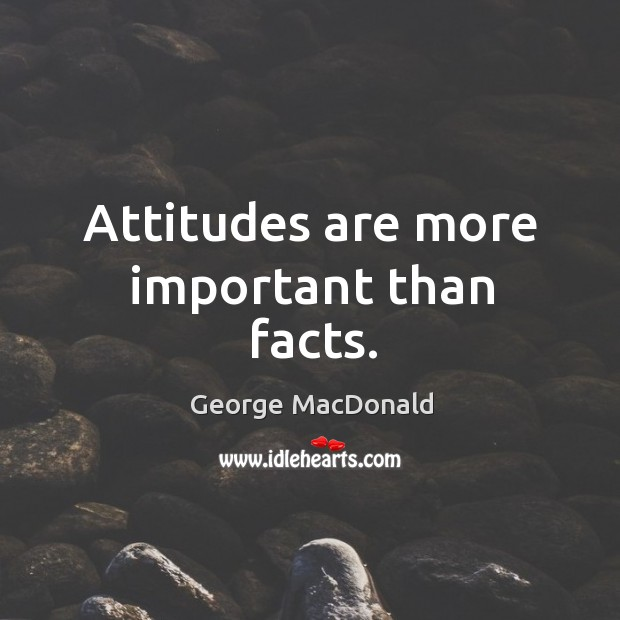 Image, Attitudes are more important than facts.