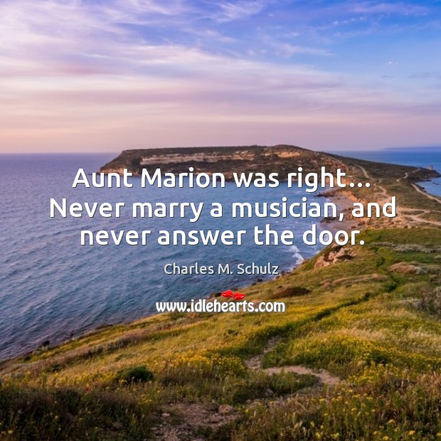 Image, Aunt marion was right… never marry a musician, and never answer the door.