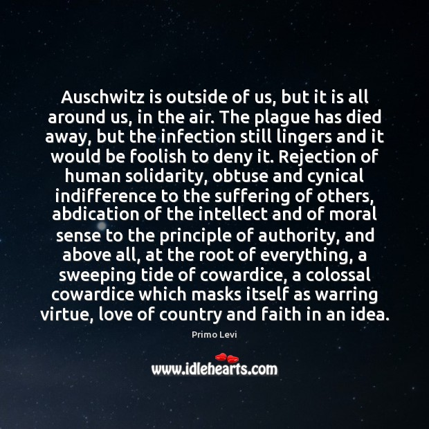 Image, Auschwitz is outside of us, but it is all around us, in