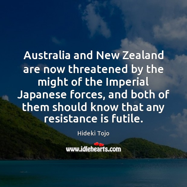 Image, Australia and New Zealand are now threatened by the might of the