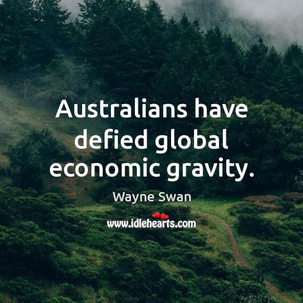 Australians have defied global economic gravity. Image