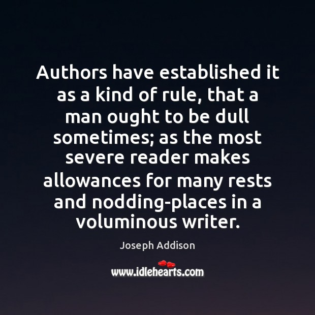 Image, Authors have established it as a kind of rule, that a man