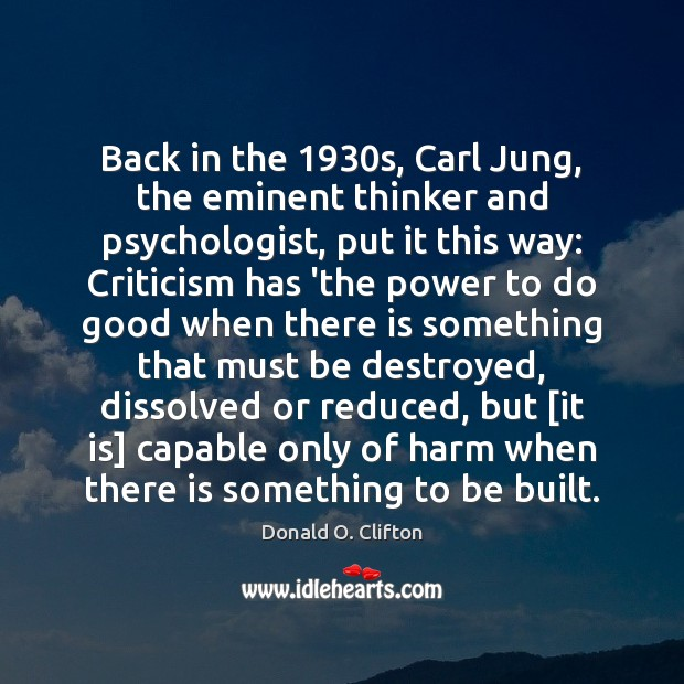Image, Back in the 1930s, Carl Jung, the eminent thinker and psychologist, put