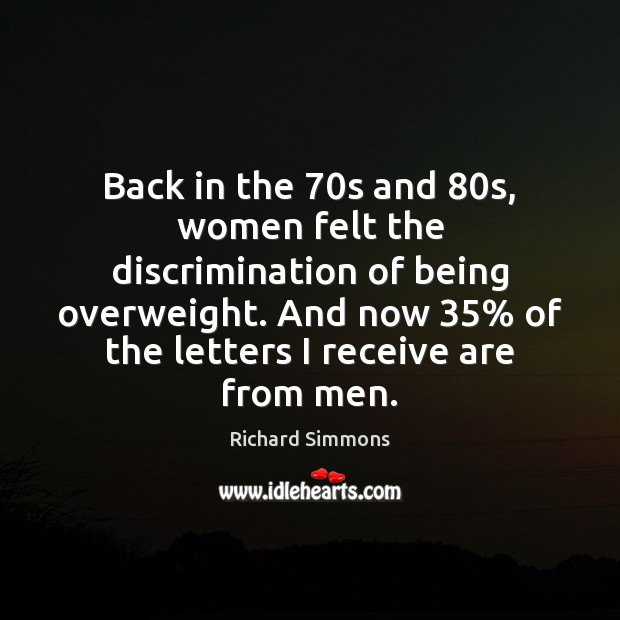 Image, Back in the 70s and 80s, women felt the discrimination of being