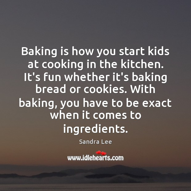Image, Baking is how you start kids at cooking in the kitchen. It's
