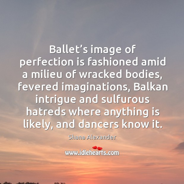 Image, Ballet's image of perfection is fashioned amid a milieu of wracked bodies