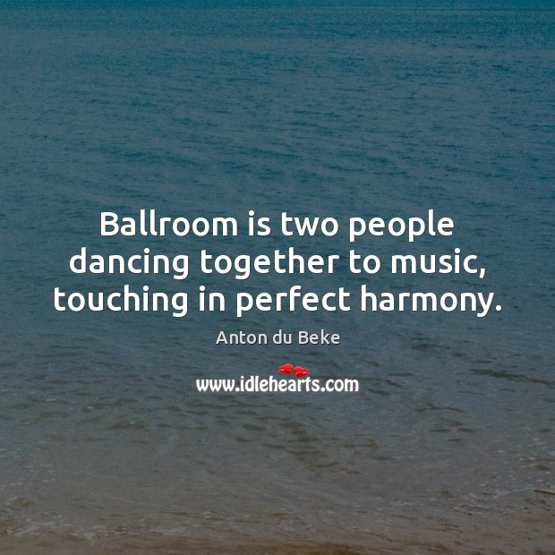 Image, Ballroom is two people dancing together to music, touching in perfect harmony.