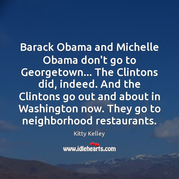 Barack Obama and Michelle Obama don't go to Georgetown… The Clintons did, Image