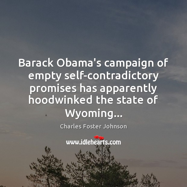 Image, Barack Obama's campaign of empty self-contradictory promises has apparently hoodwinked the state