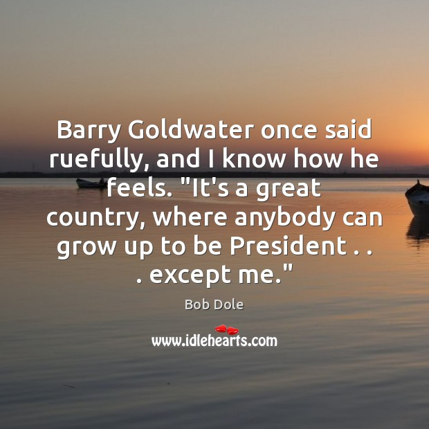 "Image, Barry Goldwater once said ruefully, and I know how he feels. ""It's"