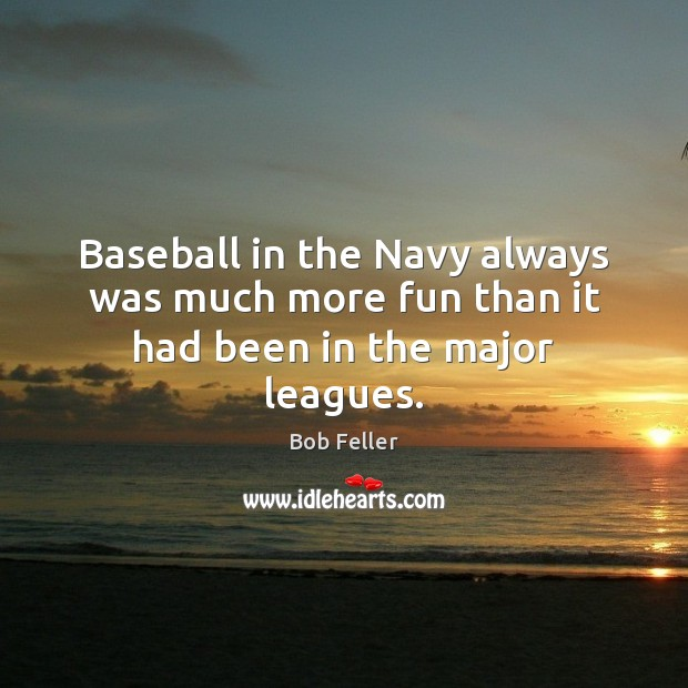 Image, Baseball in the Navy always was much more fun than it had been in the major leagues.
