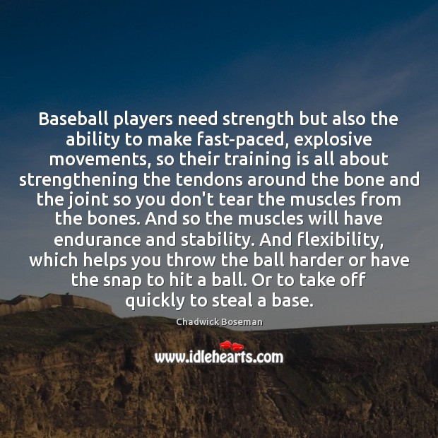 Image, Baseball players need strength but also the ability to make fast-paced, explosive