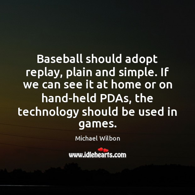 Image, Baseball should adopt replay, plain and simple. If we can see it