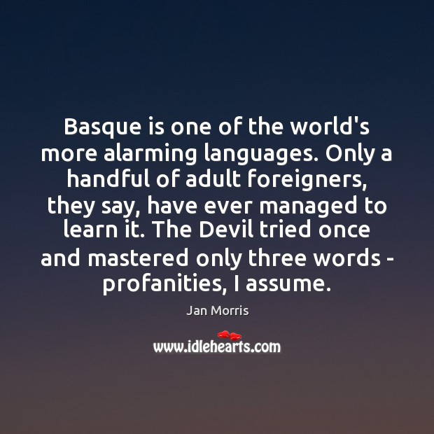 Image, Basque is one of the world's more alarming languages. Only a handful