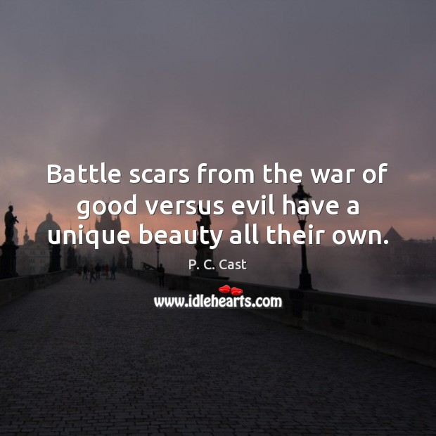 Image, Battle scars from the war of good versus evil have a unique beauty all their own.