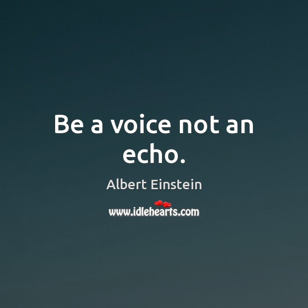 Image, Be a voice not an echo.