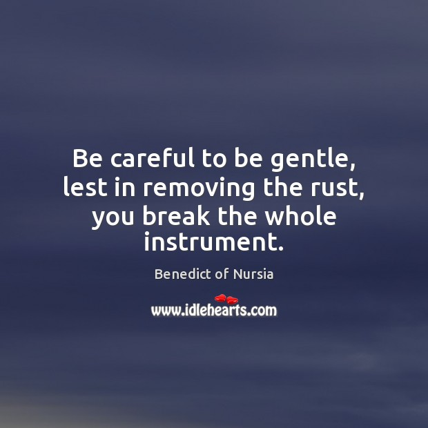 Image, Be careful to be gentle, lest in removing the rust, you break the whole instrument.