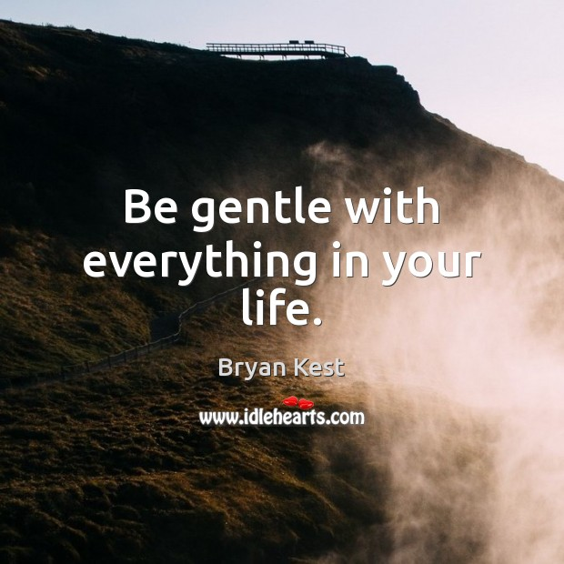 Image, Be gentle with everything in your life.