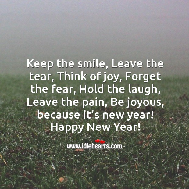 Image, Be joyous, because it's new year!