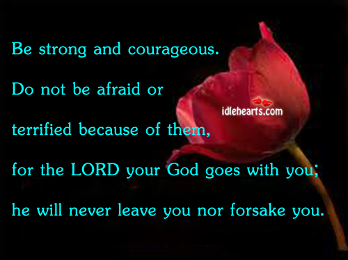 Be strong and courageous. Image
