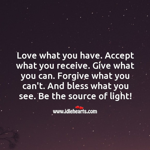 Image, Be the source of light!