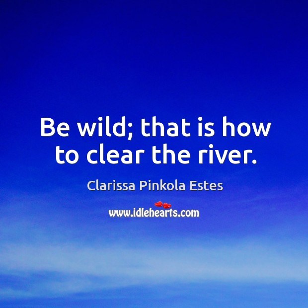 Image, Be wild; that is how to clear the river.