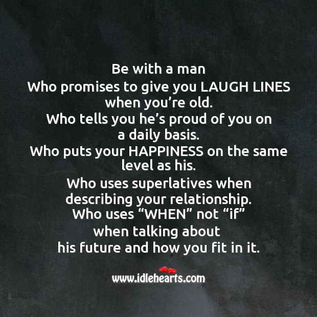 Be With A Man
