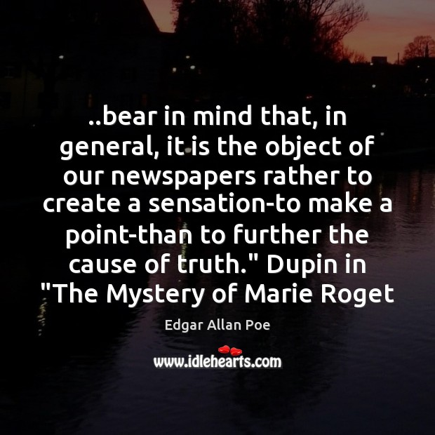 Image, ..bear in mind that, in general, it is the object of our