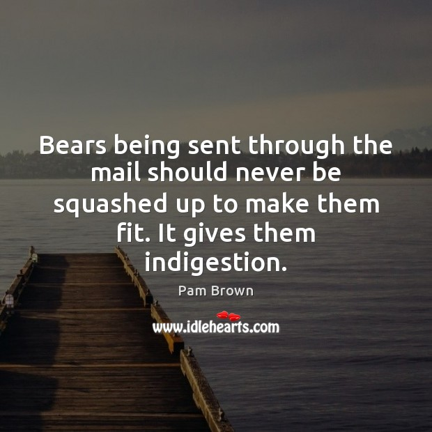 Image, Bears being sent through the mail should never be squashed up to