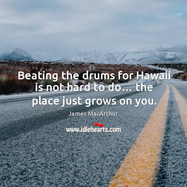Beating the drums for hawaii is not hard to do… the place just grows on you. Image