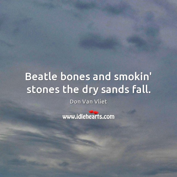 Beatle bones and smokin' stones the dry sands fall. Image