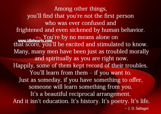 Someone will learn something from you. Image