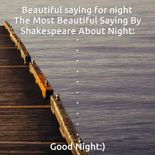 Beautiful saying for night Image