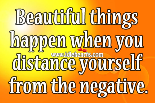 Beautiful Things Happen When You Distance