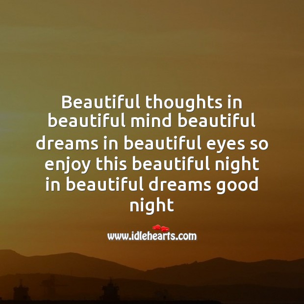 Beautiful thoughts in beautiful mind beautiful Image