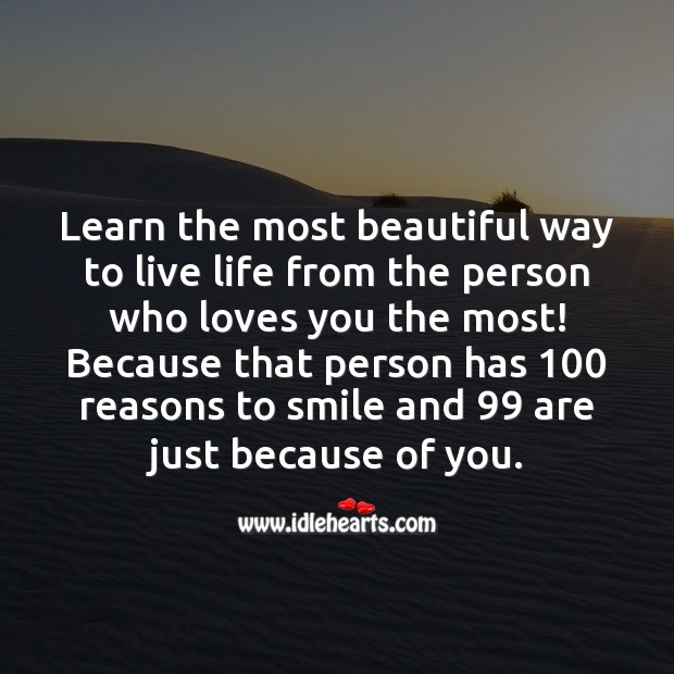 Beautiful way to live life Love Messages Image