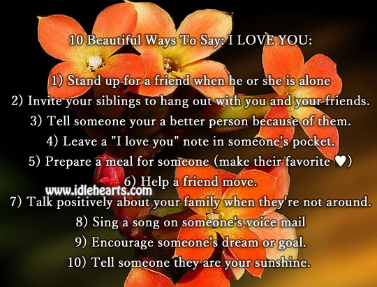 Image, 10 beautiful ways to say: I love you