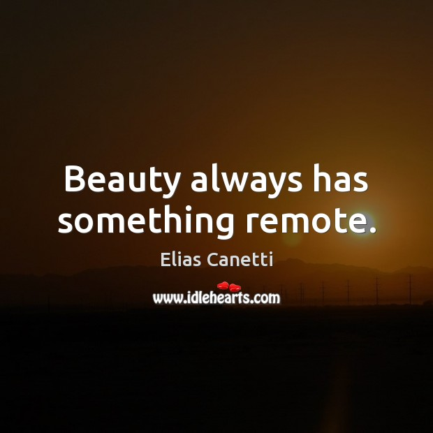Image, Beauty always has something remote.