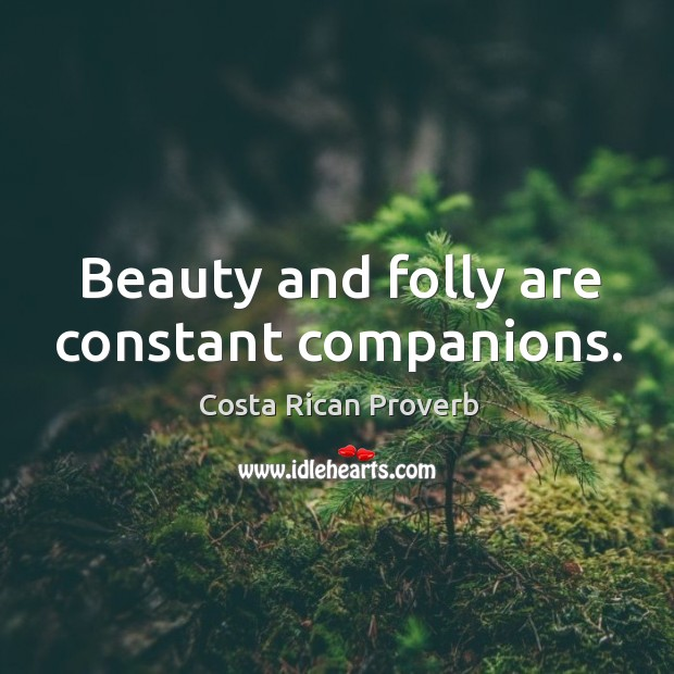 Image, Beauty and folly are constant companions.