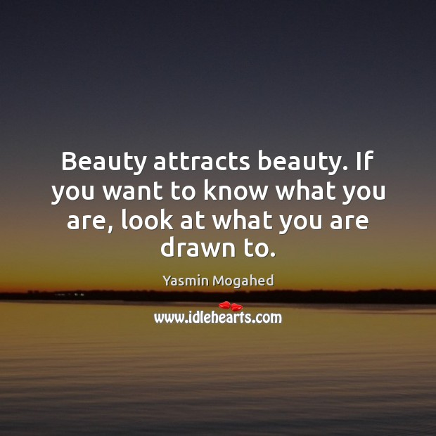 Image, Beauty attracts beauty. If you want to know what you are, look at what you are drawn to.