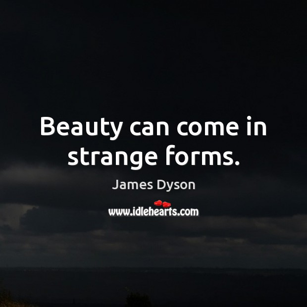 Beauty can come in strange forms. Image