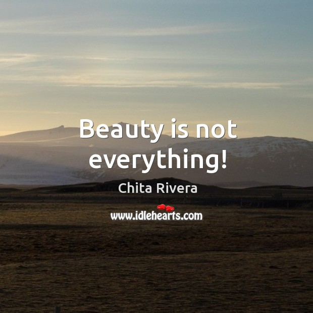 Image, Beauty is not everything!