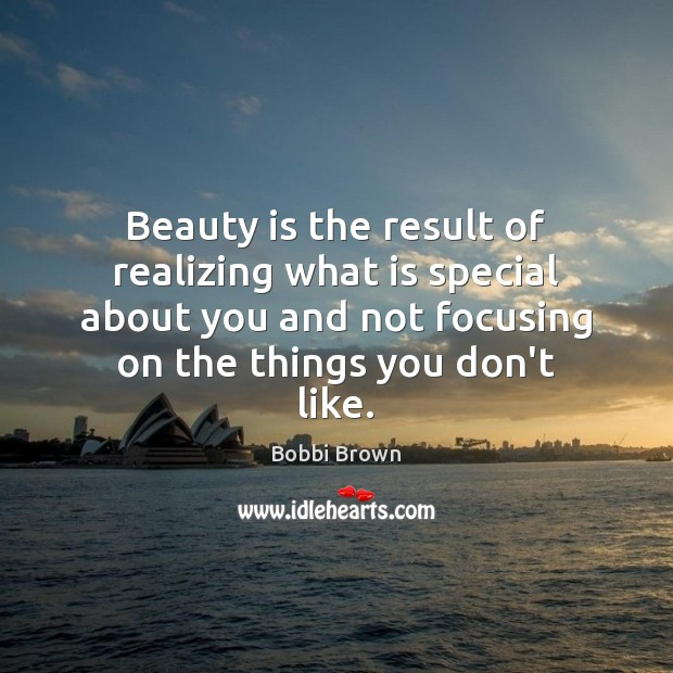 Beauty is the result of realizing what is special about you and Beauty Quotes Image